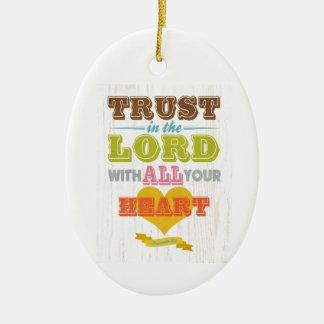 Christian Scriptural Bible Verse - Proverbs 3:5 Ornament