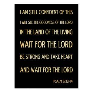 Christian Scriptural Bible Verse - Psalm 27:13-14 Postcard