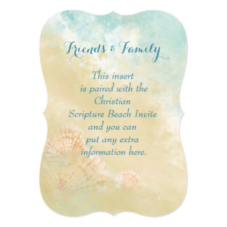 Christian Scripture Beach Ocean,Seashell Wedding Card