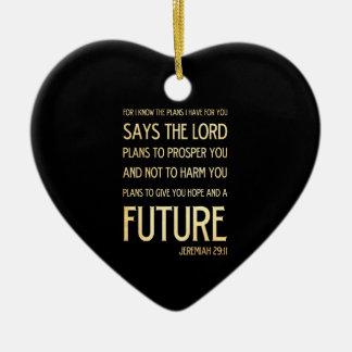 Christian Scripture Bible Verse Art Jeremiah 29:11 Ornament