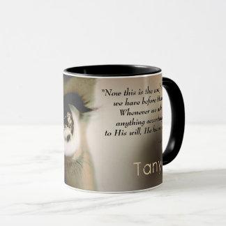 Christian SHE PRAYS Personalized Mug