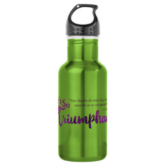 Christian She's So Triumphant with Scripture 532 Ml Water Bottle
