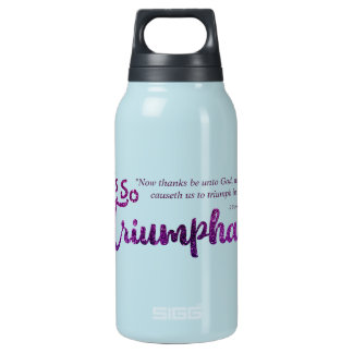 Christian She's So Triumphant with Scripture Insulated Water Bottle