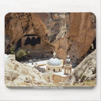 Christian shrine, Ma'lula, Syria Mouse Pads