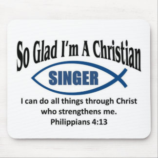 Christian singer mouse pads