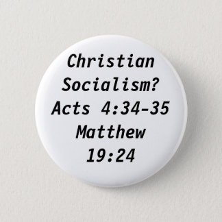 Christian Socialism? 6 Cm Round Badge