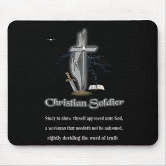 Christian soldier merchandise mouse pad