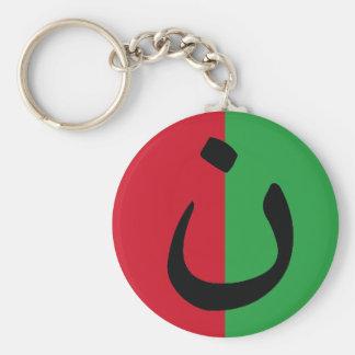 Christian Solidarity Nasrani Iraq Flag Colors Key Ring
