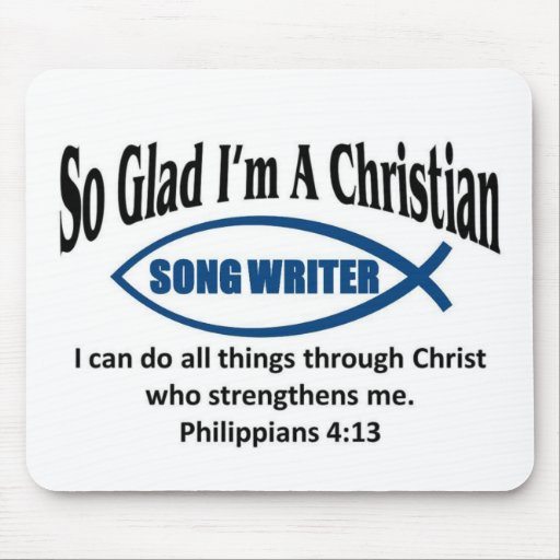Christian song writer mousepads