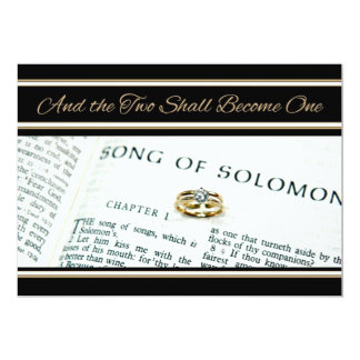 Christian Spiritual Scripture  Wedding Invitation