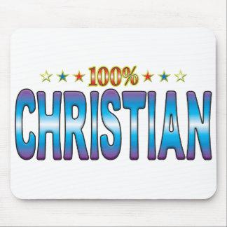 Christian Star Tag v2 Mousepads