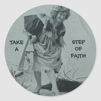 CHRISTIAN STICKERS VICTORIAN STEP OF FAITH FUNNY