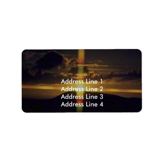 Christian Sunset Address Label
