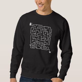 Christian sweatshirt:  Lost Sheep maze design Sweatshirt