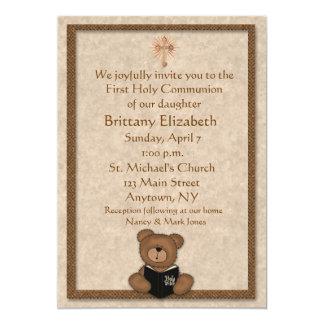 Christian Teddy Bear Invitation