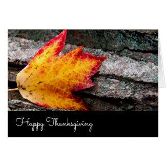 Christian Thanksgiving Autumn Leaf Card