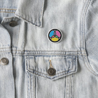 Christian Trinity & Jesus Fish Symbol 3 Cm Round Badge