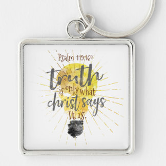 """Christian """"TRUTH IS"""" Premium 2"""" Square Keychain"""