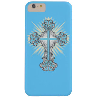 Christian turquoise flourish cross barely there iPhone 6 plus case