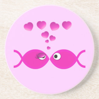 Christian Valentine Pink v2 Beverage Coasters