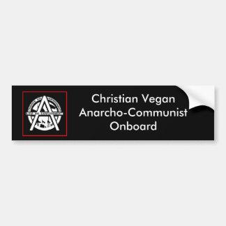 Christian Vegan Anarcho-Communist On Board Bumper Sticker