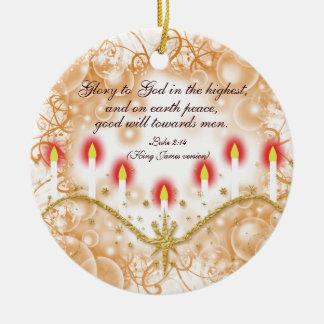 Christian verse Christmas candles Christmas Ornament