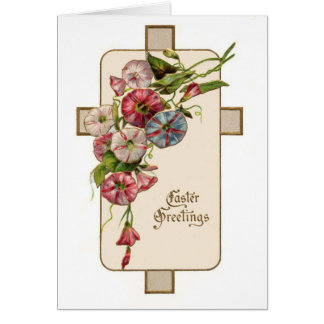 Christian Vintage Easter Floral Greetings Card