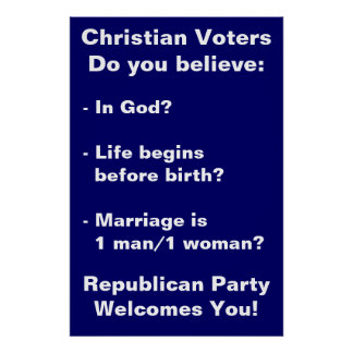 Christian Voters poster