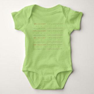 Christian Warrior Prayer I AM CHILD OF GOD Baby Bodysuit