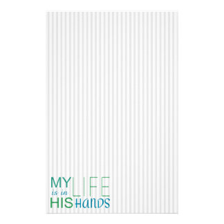 Christian Warrior Prayer MY LIFE IN HIS HANDS Stationery