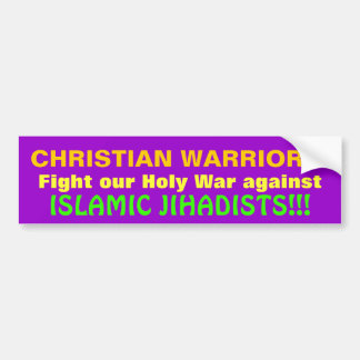 CHRISTIAN WARRIORS! BUMPER STICKER