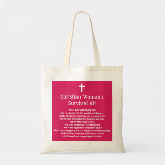 Christian Woman's Survival Kit Tote Bag