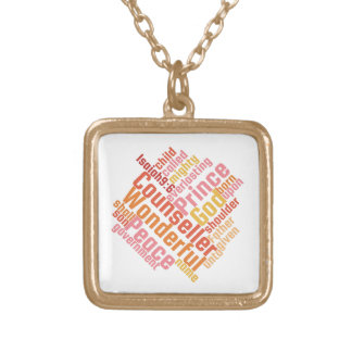 Christian Wonderful Counselor Gold Plated Necklace
