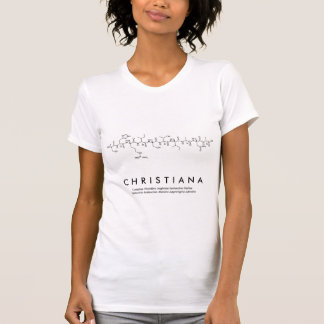 Christiana peptide name shirt