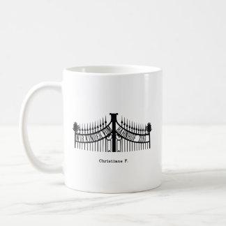 Christiane f. coffee mug