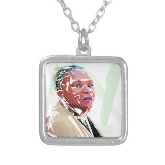Christiane Taubira Silver Plated Necklace