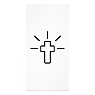 Christianity cross picture card