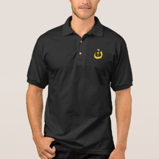CHRISTIANITY SOLIDARITY - NAZARENE SYMBOL & CROSS POLO SHIRT