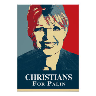 CHRISTIANS FOR PALIN POSTER