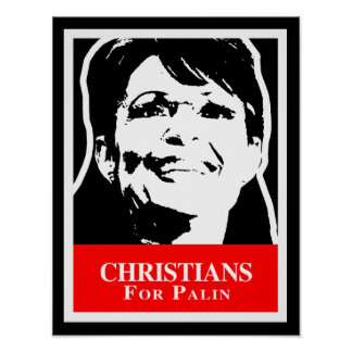 CHRISTIANS FOR PALIN PRINT