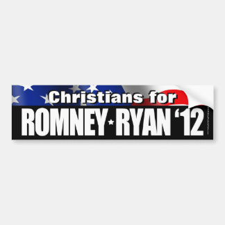 Christians For Romney/Ryan Bumper Sticker