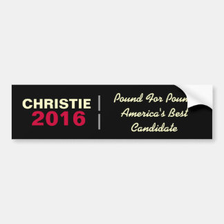 CHRISTIE 2016 Pound For Pound Bumper Sticker