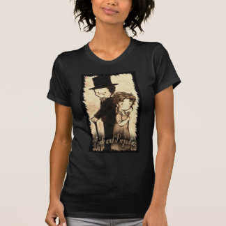 Christie Hobbs--- Ladies basic Medium black Cast Tee Shirts