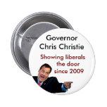 Christie Showing Liberals the Door 6 Cm Round Badge