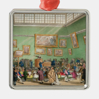 Christie's Auction Room, aquatinted by J. Bluck Metal Ornament