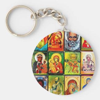 Christiian Theme Religious Key Ring Basic Round Button Key Ring