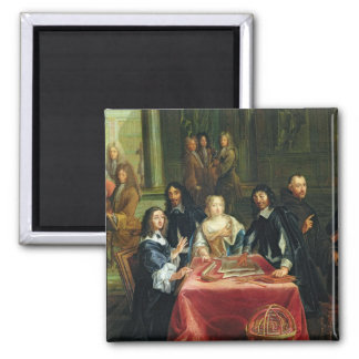 Christina of Sweden and her Court: detail of Square Magnet
