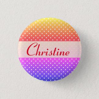 Christine name plate Anstecker 3 Cm Round Badge