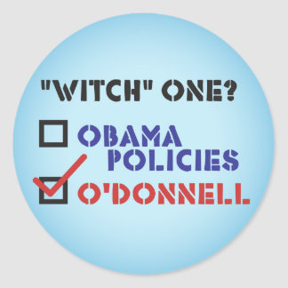 """Christine O'Donnell """"Witch"""" One Stickers"""