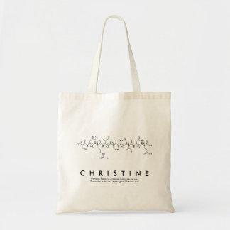 Christine peptide name bag